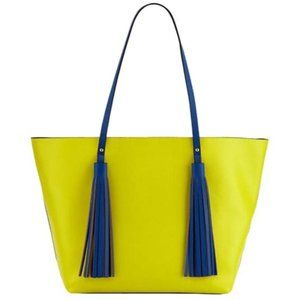 Neiman Marcus Yellow and Royal Blue Tote